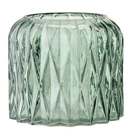 BLOOMINGVILLE Etched Glass Votive Holder (Green)