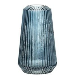 BLOOMINGVILLE Pleated Glass Vase (blue)