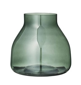 BLOOMINGVILLE Green Glass Vase