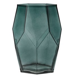 BLOOMINGVILLE Deep Green Glass Vase
