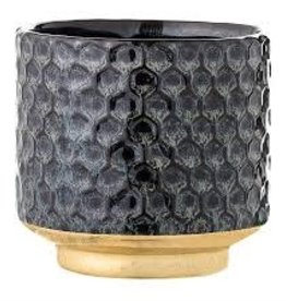 BLOOMINGVILLE Hammered Stoneware Flower Pot