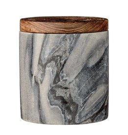 BLOOMINGVILLE Grey Marble Jar w Mango Lid Jar