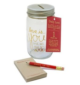 STUDIO PENNY LANE Daily Love Note Mason Jar