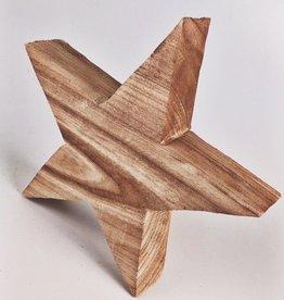 Round Paulownia Wood Star