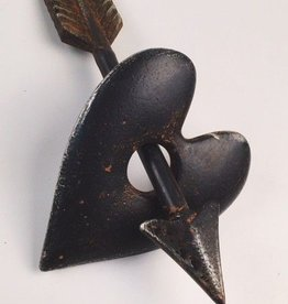 Metal Heart And Arrow Paperweight