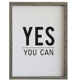 Creative Co-Op Yes You Can Framed Board