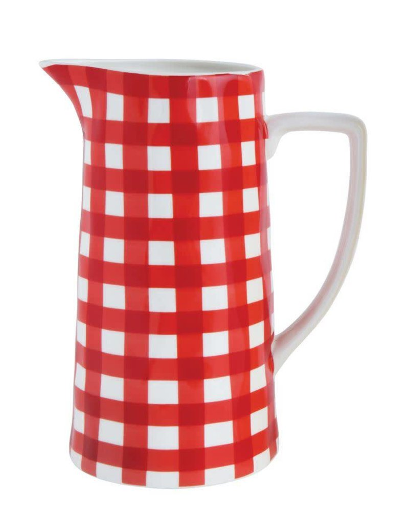Red Amp White Gingham Pitcher Wow Warehouse