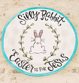 Silly Rabbit, Easter Is For Jesus Plate