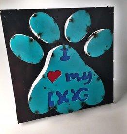 I Love My Dog Iron Sign