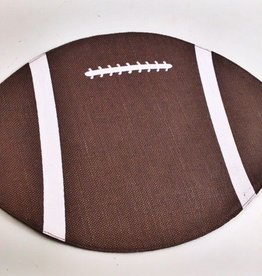 Football Burlap Jute Placemat Brown