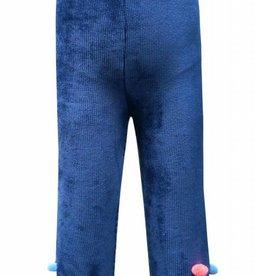 Hannah Banana/Baby Sara Dark Blue Leggings w/ Pom-Pom Hem