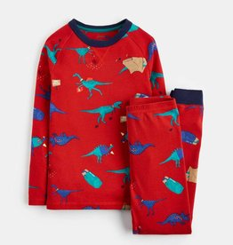 Joules Kipwell Jersey PJ Set Red Dino