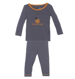 Kickee Pants Stone Trick or Treat Holiday LS Pajama Set