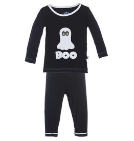 Kickee Pants Midnight BOO Holiday LS Pajama Set