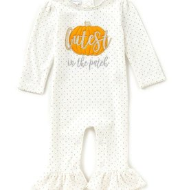 Mud Pie Cutest Pumpkin One Piece