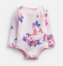 Joules Snazzy Bodysuit Pink Marl Granny Floral