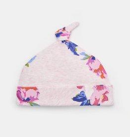 Joules Koo Printed Jersey Hat Pink Marl Granny Floral