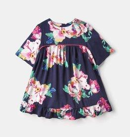 Joules Adaline Woven Dress w/Peplum Navy Floral