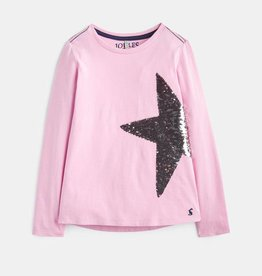 Joules Ava Embellished Shirt Magic Sequin Star