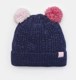 Joules Alisa Double Pom Hat French Navy