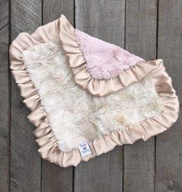 Rockin Royalty Luxe Rabbit (Blush) Lovie Blanket