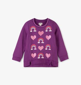 Hatley Hearts & Rainbows LS Pullover Orchid