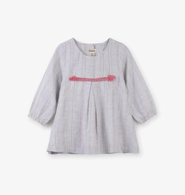 Hatley Metallic Stripe Baby Party Dress Gray
