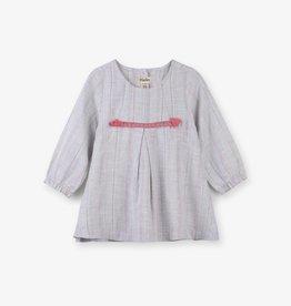 Hatley Metallic Stripe Baby Party Dress Gray