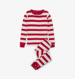 Hatley Metallic Stripe PJ Set Chex Red