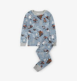 Hatley Woodland Animal Pajama Set Light Drizzle