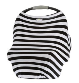 Itzy Ritzy Mom Boss 4-in-1 Use Cover B&W Stripe