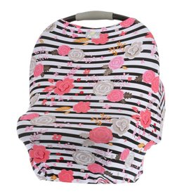 Itzy Ritzy Mom Boss 4-in-1 Use Cover Floral Stripe