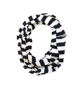 Itzy Ritzy Nursing Scarf Black & White Stripe
