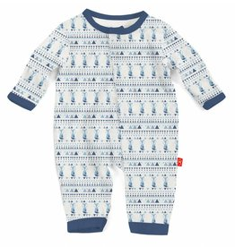 Magnificent Baby Blue Foxy Fair Isle Modal Coverall