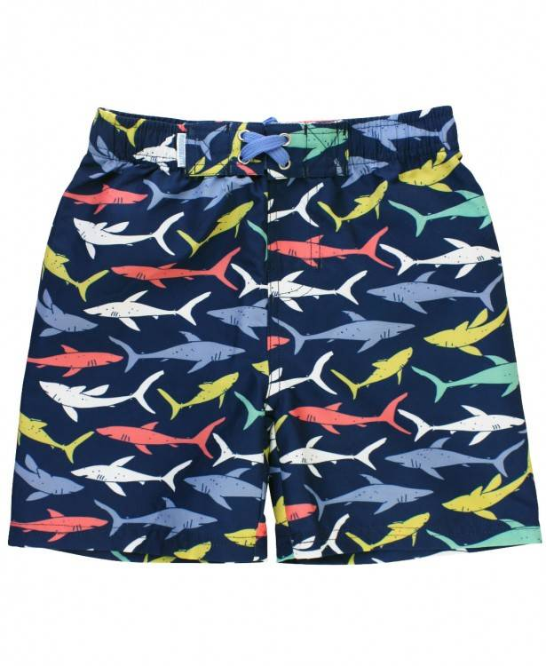 Ruffle Butts Sharky Swim Trunks