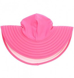 Ruffle Butts Candy & Pink Reversible Swim Hat