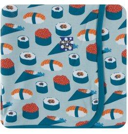 Kickee Pants Print Swaddling Blanket Jade Sushi