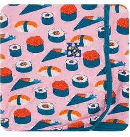 Kickee Pants Print Swaddling Blanket Lotus Sushi