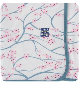 Kickee Pants Print Swaddling Blanket Nat. Japanese Cherry Tree