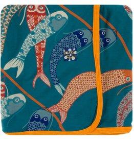 Kickee Pants Print Swaddling Blanket Oasis Koinobori