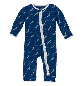 Kickee Pants M.Ruff Coverall Zipper Navy Dragonfly
