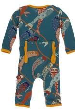 Kickee Pants Print Coverall w Zipper Oasis Koinobori