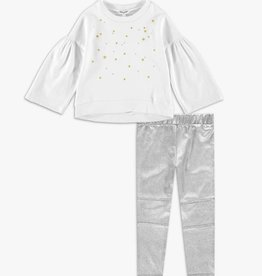 Splendid Offwhite Embroidered Top Set