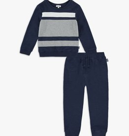Splendid True Navy Color Block Sweatshirt Set