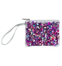 Three Cheers for Girls! Shine Bright Confetti Wristlet