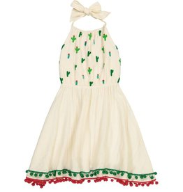 Masala Baby Island Halter Dress Cactus Pebble