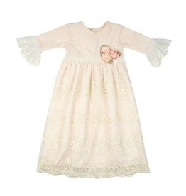 Haute Baby Peach Blush Gown, 0/3M