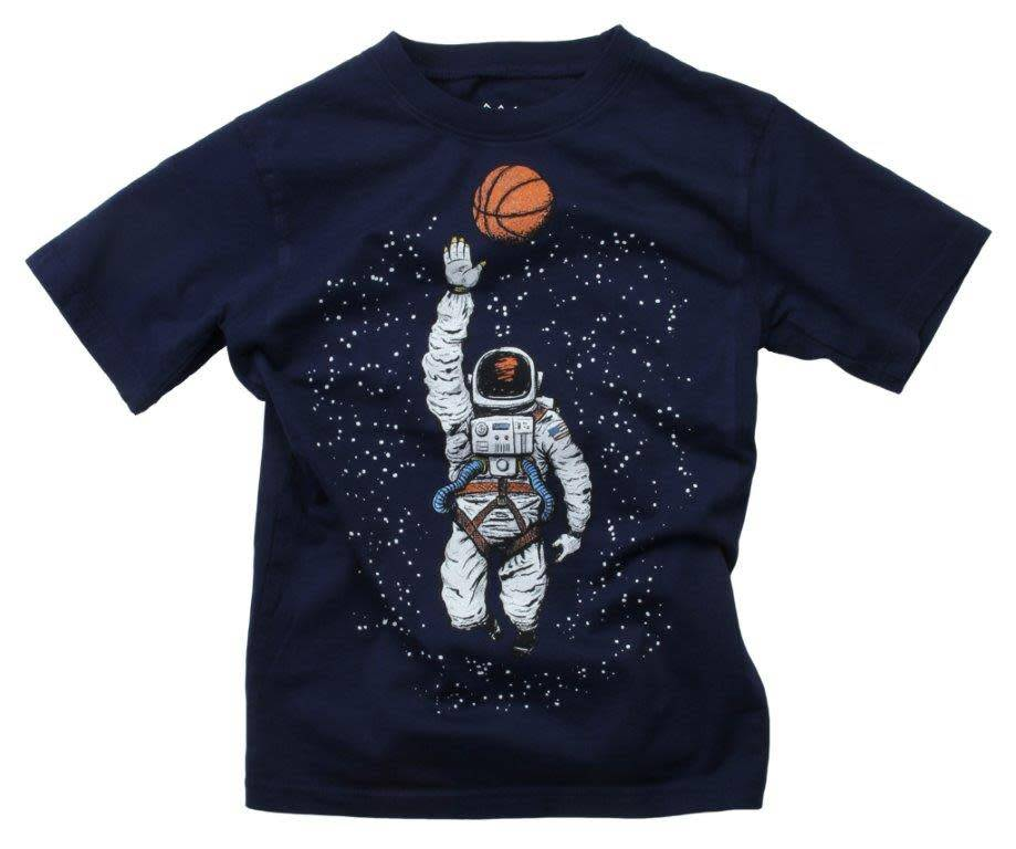 Wes And Willy Basketball Astronaut SS Tee Midnight