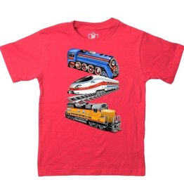 Wes And Willy Trains SS Tee Cherry