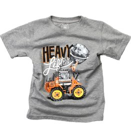 Wes And Willy Heavy Lifter SS Tee Charcoal